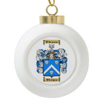 Edison Ceramic Ball Christmas Ornament