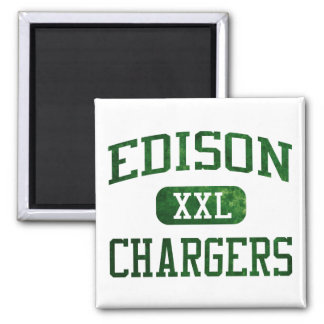 Edison Chargers Athletics 2 Inch Square Magnet