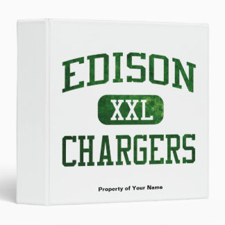 Edison Chargers Athletics 3 Ring Binders