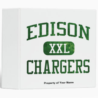 Edison Chargers Athletics Vinyl Binder