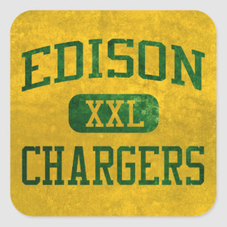 Edison Chargers Athletics Square Sticker