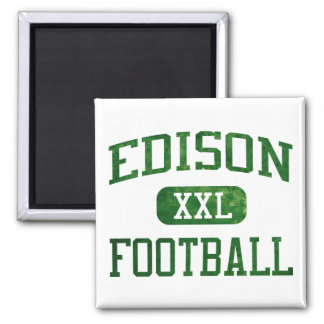 Edison Chargers Football 2 Inch Square Magnet