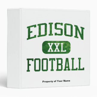 Edison Chargers Football 3 Ring Binders