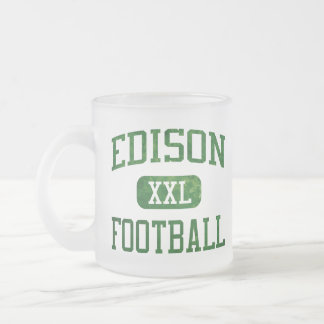 Edison Chargers Football Frosted Glass Coffee Mug