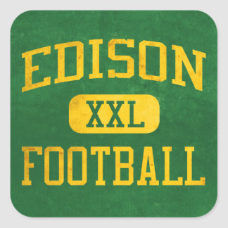 Edison Chargers Football Square Sticker