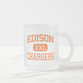 Edison - Chargers - High School - Milan Ohio Frosted Glass Coffee Mug
