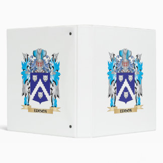 Edison Coat of Arms - Family Crest Vinyl Binder