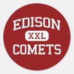 Edison - Comets - Middle - Champaign Illinois Round Sticker