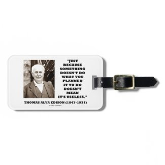 Edison Doesn't Do Planned Doesn't Mean Useless Travel Bag Tags