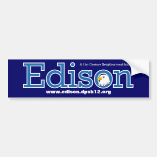 Edison Elementary School Bumpersticker Bumper Sticker