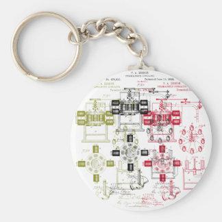 Edison generator basic round button keychain