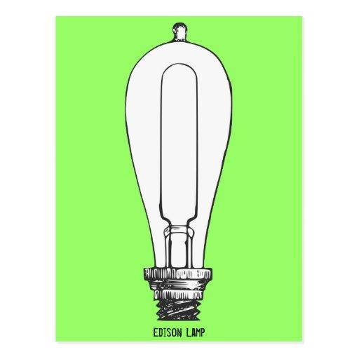 Edison Lamp Postcard
