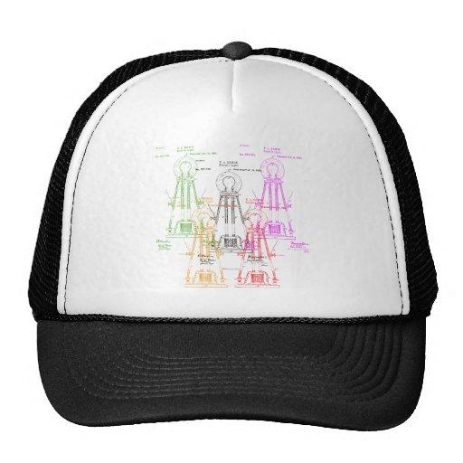 Edison light bulb mesh hat