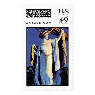 Edison-Mazda, Maxfield Parrish - Postage Stamp