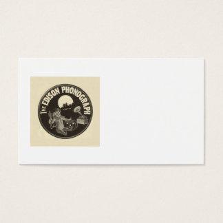 Edison Phonograph Halloween Ad Jack O Lantern Business Card