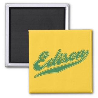 Edison Script 2 Inch Square Magnet