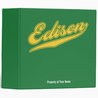 Edison Script 3 Ring Binder