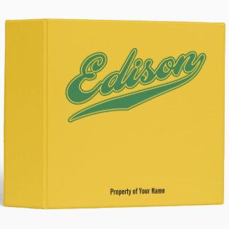 Edison Script 3 Ring Binders