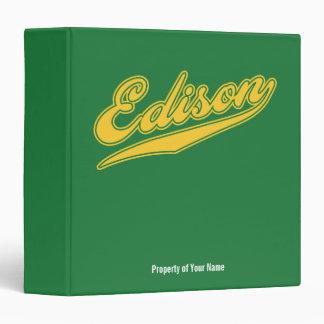 Edison Script Vinyl Binder