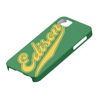 Edison Script iPhone 5 Cover