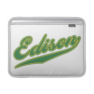 Edison Script MacBook Sleeves