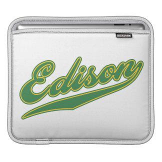 Edison Script iPad Sleeves