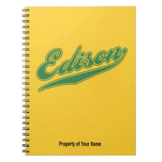 Edison Script Spiral Note Books