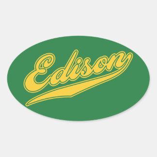 Edison Script Oval Sticker