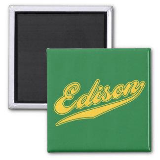 Edison Script Refrigerator Magnet
