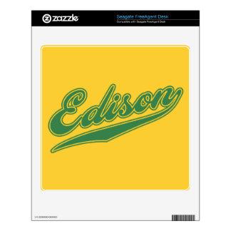 Edison Script Skin For FreeAgent Desk