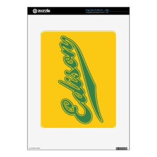 Edison Script iPad Skins
