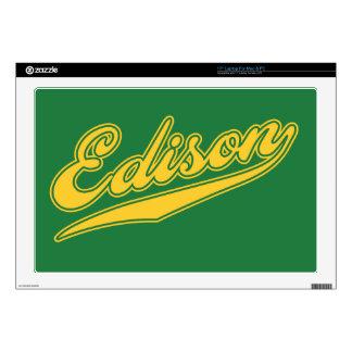 "Edison Script 17"" Laptop Decal"