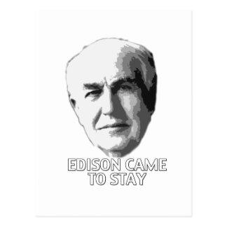 Edison vino permanecer postal