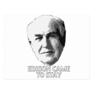Edison vino permanecer tarjeta postal