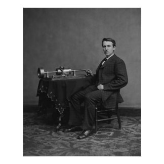 Edison y fonógrafo posters
