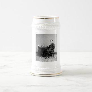 Edison y su fonógrafo 1887 jarra de cerveza