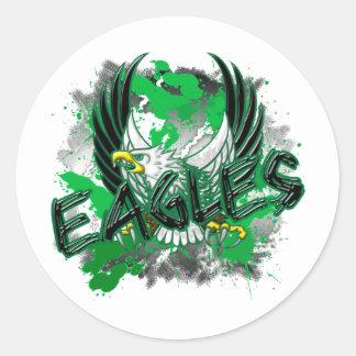 EdisonEagles8.png Classic Round Sticker