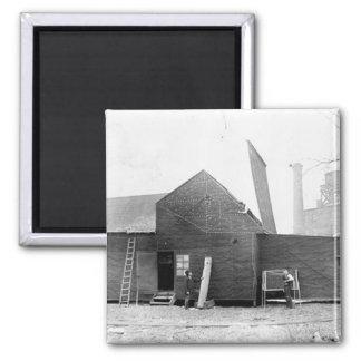 Edison's Black Maria 2 Inch Square Magnet