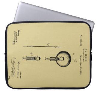 EDISON's ELECTRIC LAMP PATENT - Circa 1880 Computer Sleeve