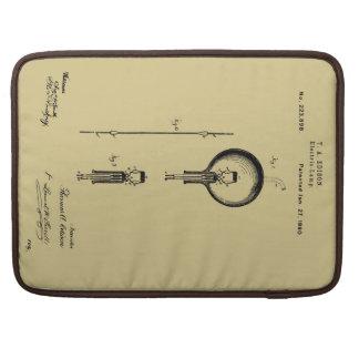 EDISON's ELECTRIC LAMP PATENT - Circa 1880 Sleeve For MacBooks