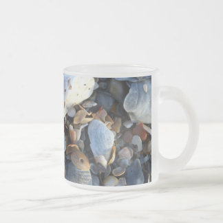 Edisto Beach Shells Frosted Glass Coffee Mug