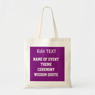 Edit replace TEXT IMAGE DIY Template budget TOTE Budget Tote Bag