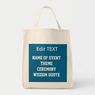 Edit replace TEXT IMAGE DIY Template JUMBO TOTE Grocery Tote Bag