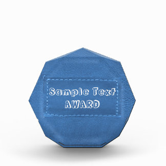 Edit Text : Cowboy Designs n Text Type Face Acrylic Award