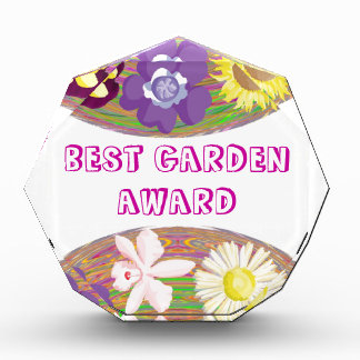 Edit Text  : Flower Designs n Text Type Face Style Acrylic Award
