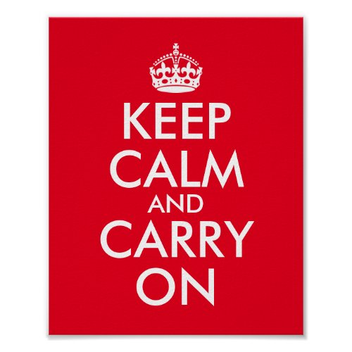 Edit Text to Make Your Own Keep Calm and Carry On Poster