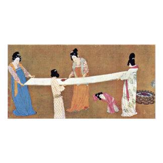 Edit Women'S New Silk By Meister Nach Chang Hsüan Custom Photo Card