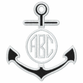 Edit Your Nautical Monogram Anchor 123 Characters Polo Shirts