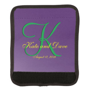 Editable 3d Monogram Purple Mauve Template Handle Wrap