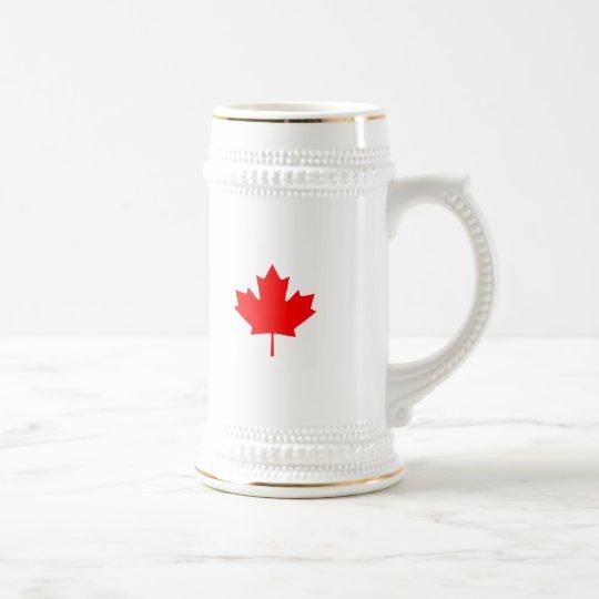 Editable Background Color, Canada Flag Souvenir Beer Stein